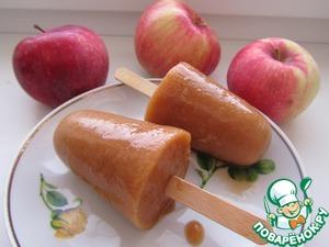 Рецепт Фруктовый лед из дыни, персика, яблока