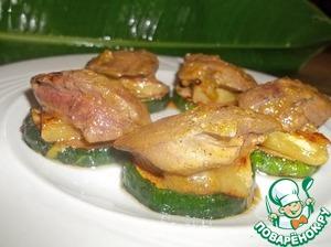 Рецепт Изящная закуска из куриной печени