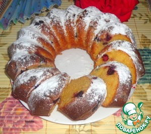 Рецепт Смородиновый кекс на сгущенном молоке