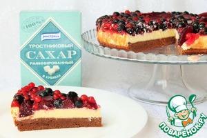 Рецепт Легкий торт со смородиной и сливой
