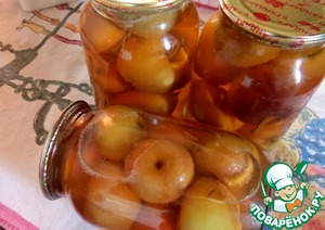 Рецепт Яблоки в яблочном соке