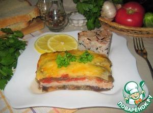 Рецепт Запеканка из рыбы с баклажанами