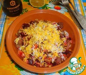 Рецепт Свекольный салат с мясом