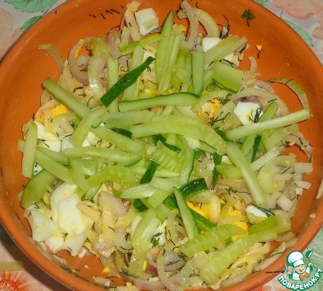 Салат из сельди и пекинской капусты  рецепт с фото