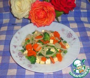 Рецепт Салат с плавленным сыром и брокколи