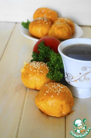 Рецепт Томатные пирожки с картофельно-сырной начинкой