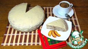 """Рецепт Банановый торт с кремом """"Рафаэлло"""""""