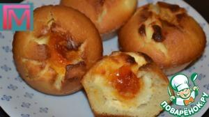 Рецепт Маффины с творожной начинкой и абрикосовым джемом