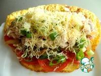 Теплый салат в омлете ингредиенты