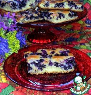Вкусный рецепт с фото Быстрый черничный пирог