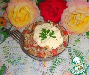 Рецепт Капустный салат с кукурузой и сухариками