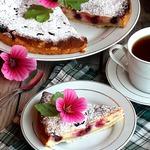 Незатейливый творожно-смородиновый пирог