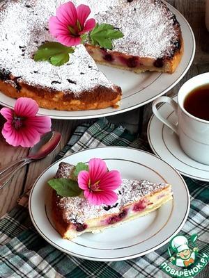Рецепт Незатейливый творожно-смородиновый пирог