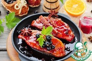 Рецепт Утиные грудки в смородиновом соусе