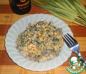 Рецепт Салат с мясом и ананасом