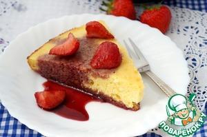 Рецепт Лимонный пирог с клубникой в вине