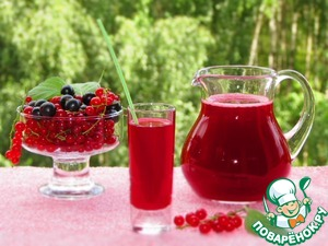 Рецепт Квас из красной и черной смородины
