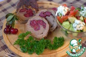 Рецепт Мясной рулет с вишней