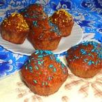 Кексы с нектариновой глазурью