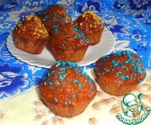 Рецепт Кексы с нектариновой глазурью