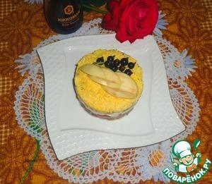 Рецепт Слоеный салат с баклажанами