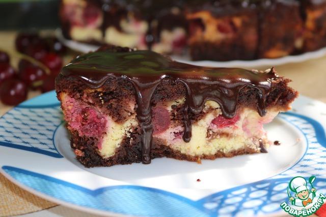 Пирог шоколадно творожный с вишней рецепты