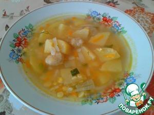 Рецепт Гороховый суп с клецками