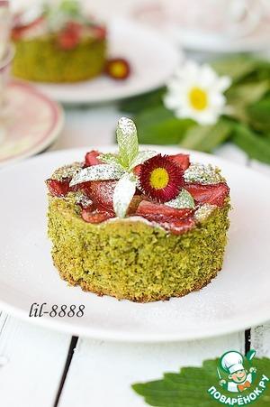 Рецепт Шарлотка мятная с клубникой