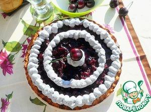 Рецепт Черешневый тарт с ванильным кремом и меренгой