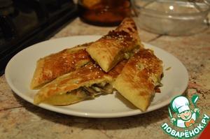 Рецепт Слоеный пирог с грибами и сыром