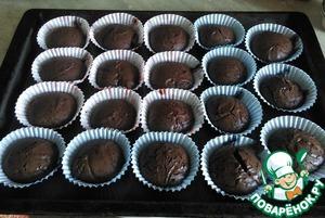 Рецепт Шоколадные маффины с жидкой начинкой