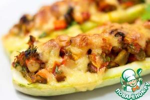 Рецепт Запеченные кабачки с овощами