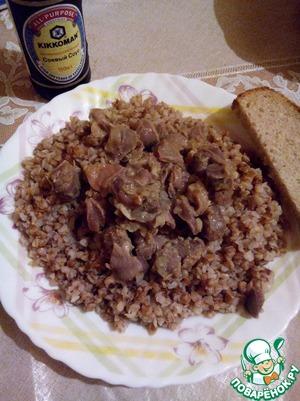 Рецепт Куриные желудочки в соевом соусе с чесноком