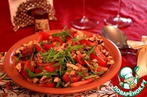 """Рецепт Салат """"Благодатный"""" с говяжьей печенью и рукколой"""