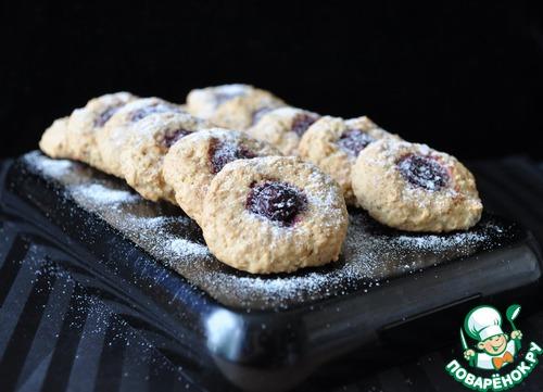 Овсяное печенье с вишней и миндалём
