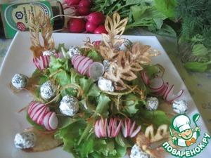 Салат с творожными шариками и овощами простой рецепт приготовления с фотографиями пошагово готовим
