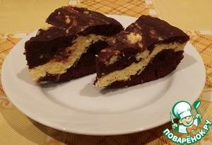 Рецепт Шоколадный пирог с творогом и кокосовой стружкой