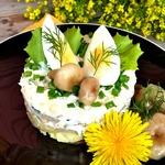 Провинциальный салат с грибами