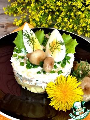 Салаты с солеными грибами рецепты с простые и вкусные