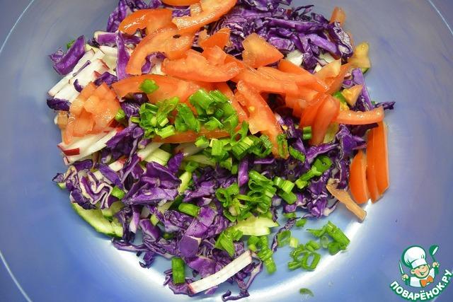 Салат из капусты фиолетовой рецепты простые и вкусные