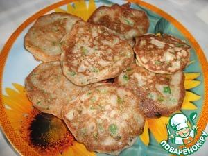 Рецепт Оладьи из ржаной муки с отрубями и зеленым луком