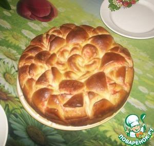 """Рецепт Красивый пирог """"Цветок"""""""