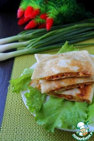 Рецепт Кесадилья с мясом и нутом