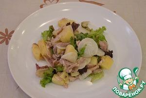 Рецепт Картофельный салат с курицей и редиской