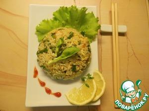 Рецепт Тайский жареный рис с курицей