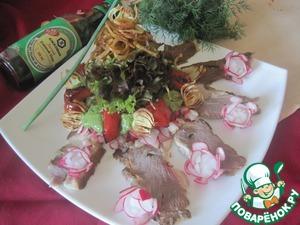 Рецепт Салат с копченым мясом и овощами