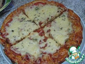 Рецепт Пицца для гурманов с красной икрой