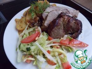 Рецепт Запечённая свинина с картофелем