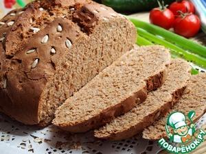 Рецепт Ржаной хлеб на квасе с подсолнечными семечками