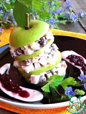 Рецепт Десертный крабовый салат